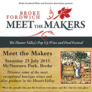 Broke Fordwich Meet the Makers, Hunter Valley event