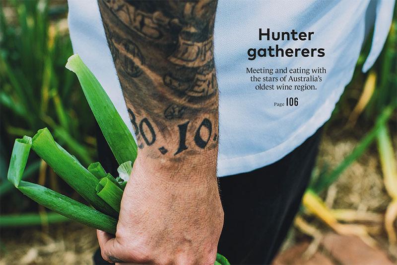 Qantas Magazine, Hunter gatherers, Broke Fordwich wine region