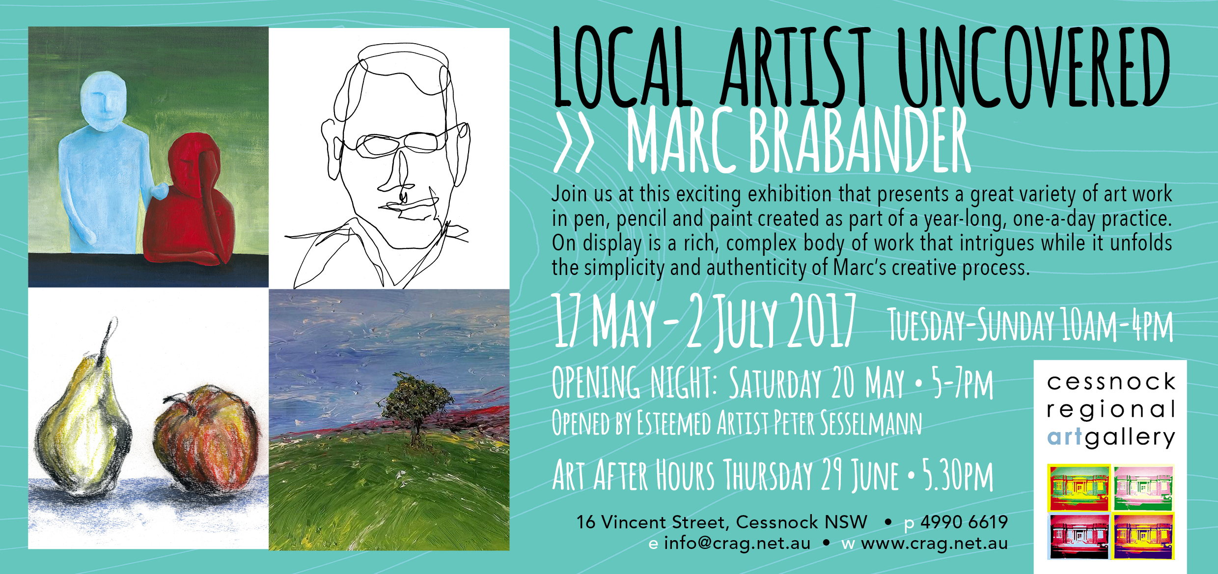 Opening Night  - Local Artist Uncovered works by Marc Brabander